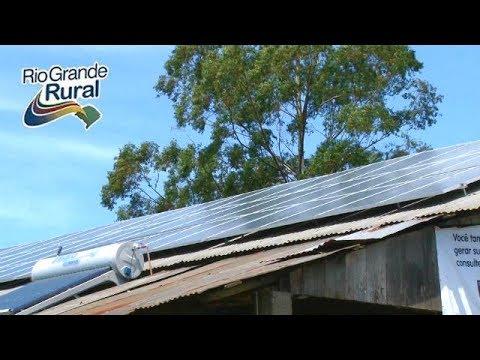 Usina de energia fotovotáica em propriedade rural