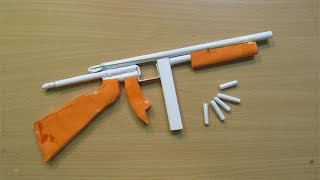 How To Make A Paper Thompson M1A1 Machine Gun That Shoots Paper Bullet