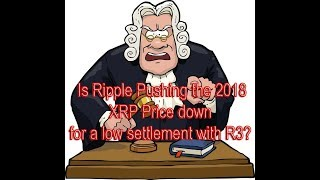 Is Ripple Pushing the 2018 XRP Price down for a low settlement with R3?