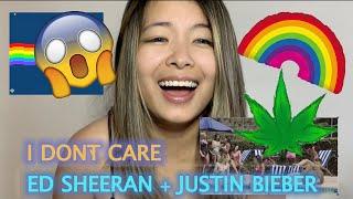 Ed Sheeran & Justin Bieber   I Don't Care REACTION