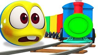 Trains for kids - Choo Choo Train Videos for Kids | WonderBalls Cartoon By Cartoon Candy