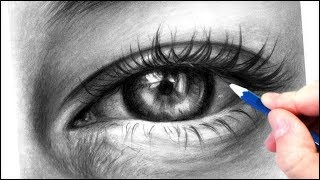 How To Draw A Realistic Eye With Graphite Pencils | Realistic Drawing Tutorial Step By Step