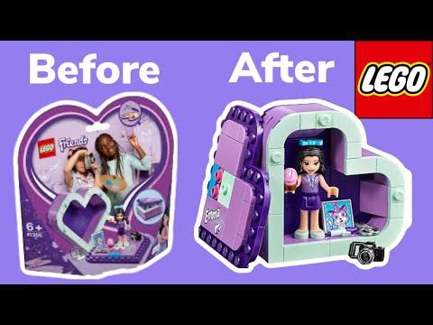 LEGO Friends レゴ フレンズ | Stephanie helps build Emma heart box | Unboxing | STOP MOTION Movie