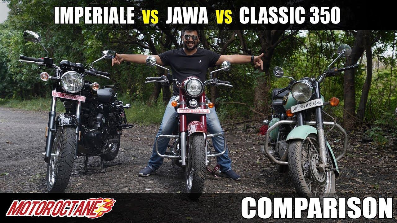 Motoroctane Youtube Video - RE Classic 350 vs Jawa vs Benelli Imperiale 400 Comparison | Hindi | MotorOctane