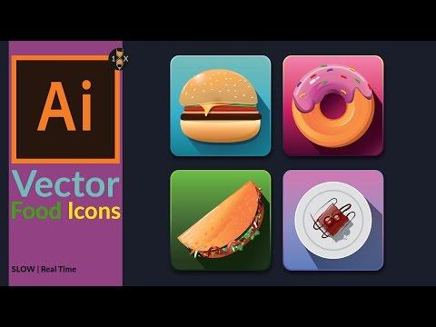mp4 Food Icon Vector, download Food Icon Vector video klip Food Icon Vector