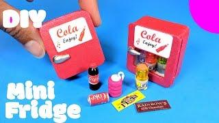 DIY Miniature Refrigerator & Easy Snacks/Drinks - Doll Mini Fridge