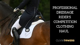PROFESSIONAL DRESSAGE RIDERS COMPETITION CLOTHING HAUL