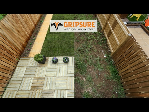 Gripsure uk non slip decking boards anti slip timber for Non wood decking boards