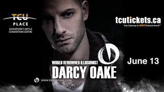 Darcy Oake will be performing at TCU Place in Saskatoon on Tuesday