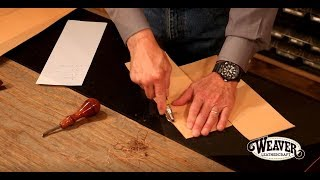 Making A Leather Journal Cover Chapter 2: Leather Edge Work On A Journal Cover