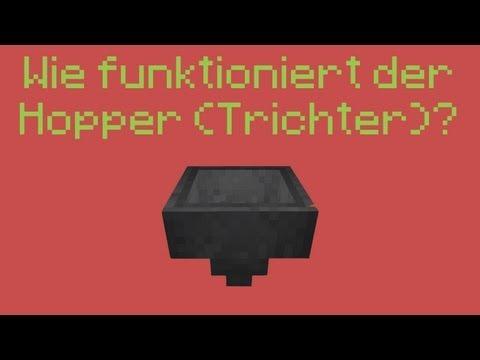 Minecraft 1.8 - Wie funktioniert der Hopper (Trichter)?