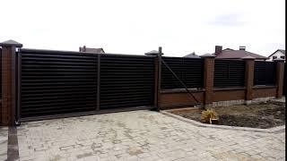 Відкатні ворота від компанії ЗахідВікнаСервіс - відео 2