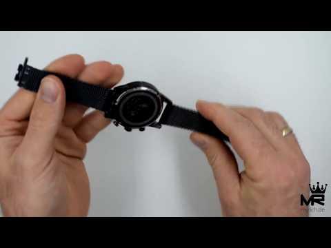 Hugo Boss Herren Uhr Chronograph 1513538 Blau Milanaise Armbanduhr