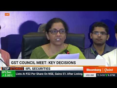 Finance Minister Nirmala Sitharaman Addresses The Media After GST Council Meeting