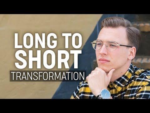 Long to Short Hairstyle   Men's Hair Transformation 2018
