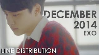 EXO - December, 2014 (The Winter's Tale) | Line Distribution