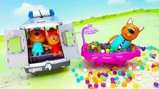 Три кота - Игрушечный мультфильм для малышей! Мультики про игрушки для самых маленьких детей 2019