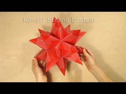 Sterne falten: Bascetta Stern basteln - Origami Stern Faltanleitung - DIY Weihnachten