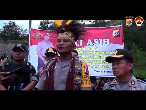 Kapolda Papua Memberikan Semangat Dan Motivasi Kepada Anak-Anak Pirime, Lanny Jaya