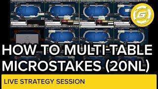 Online Poker - How To Multitable Microstakes 20 NL