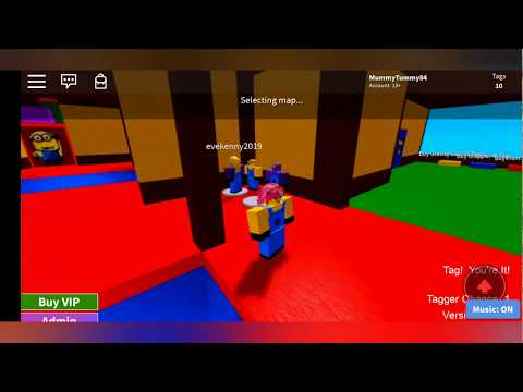 Playing Roblox! The floor is Lava, Minion Tag and Barbie Dreamhouse