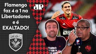 """'Isso não existe! É incrível"""": Flamengo é exaltado após fazer 4 a 1 na Libertadores"""