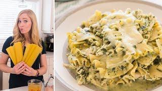 6 Ingredient CROCKPOT White Chicken Lasagna | The Recipe Rebel