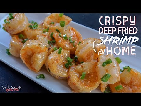 Homemade Crispy Deep Fried Shrimp | SAM THE COOKING GUY