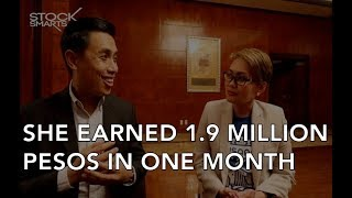 SHE EARNED 1.9 MILLION PESOS IN ONE MONTH