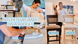KITCHEN UPGRADE ON A BUDGET 2021 | BAR STOOLS BEFORE & AFTER | Style Mom XO