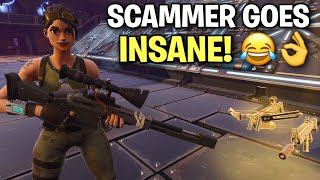 Rich scammer loses entire inventory! 😂👌 (Scammer Get Scammed) Fortnite Save The World