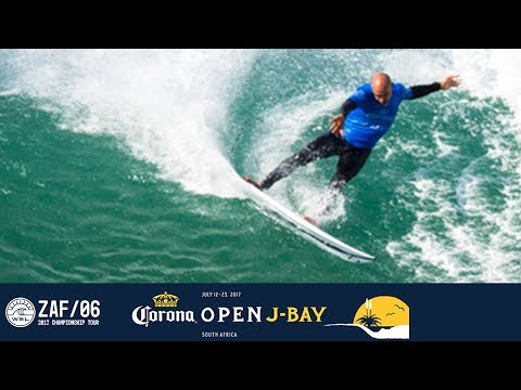 Kelly Slater's 9.10 Double Barrel in Round One – Corona Open J-Bay 2017 Highlights