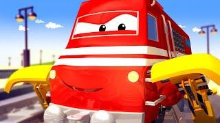Поезд Трой -  Поезд МЕХАНИК чинит колёса Генри! - Автомобильный Город 🚄 детский мультфильм