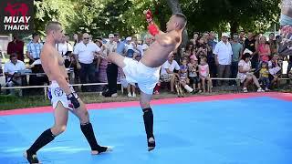 Классный показательный бой Муай Тай (замедление приемов)