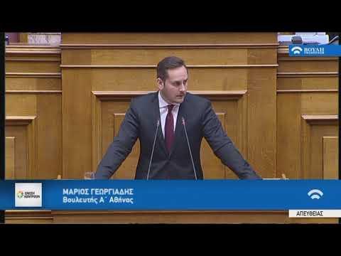Μ.Γεωργιάδης  (Εισηγητής ΕΝΩΣΗ ΚΕΝΤΡΩΩΝ) (Αναθεώρηση Συντάγματος)(12/02/2019)