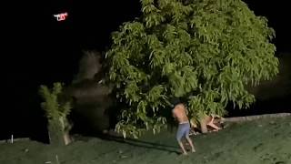 Charlles E Bananinha Assustam Tiringa Com O Drone 😂 - Pegadinha Do Drone   ComÉdia Selvagem ®