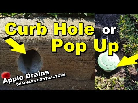 Which Is Better, Pop Up or Curb Hole, Proper Discharge of French Drain