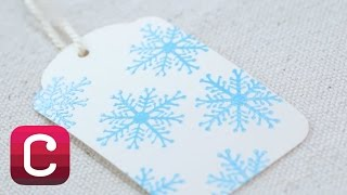 Stamped And Embossed Christmas Gift Tags With Courtney Cerruti | Creativebug