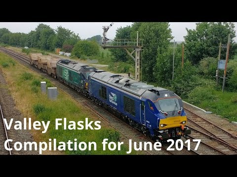 Class 68's on Nuclear Flask trains in North Wales throughout…