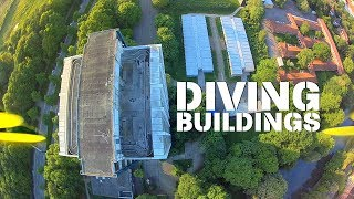 FPV-DIRK: DIVING BUILDINGS (FPV-DIVING, FPV-FREESTYLE, AERIAL VIDEO)(4K)