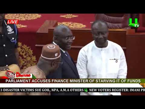 Parliament accuses Finance Minister of starving it of funds