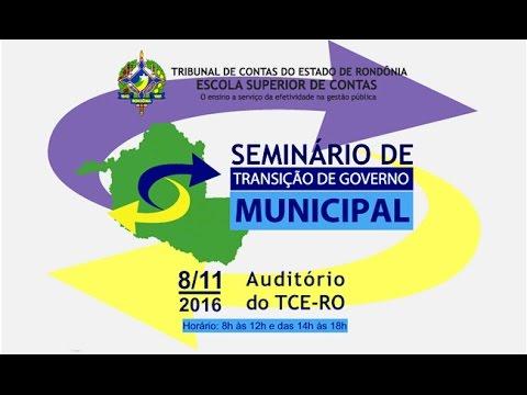 Transição de Governo Municipal é tema de evento do TCE-RO  - Gente de Opinião