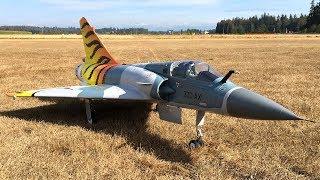 RC Plane Crash - Freewing Mirage 2000C V2 Tiger Meet 80mm EDF Jet Maiden Flight With Bill