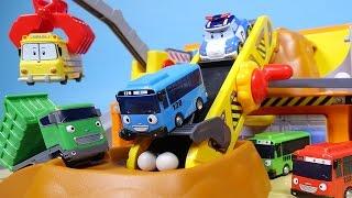Tayo bus & Poli Heavy car toys 타요 폴리 중장비 놀이