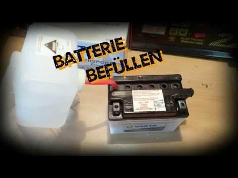 Batterie befüllen (Roller, Moped, Motorrad und PKW)