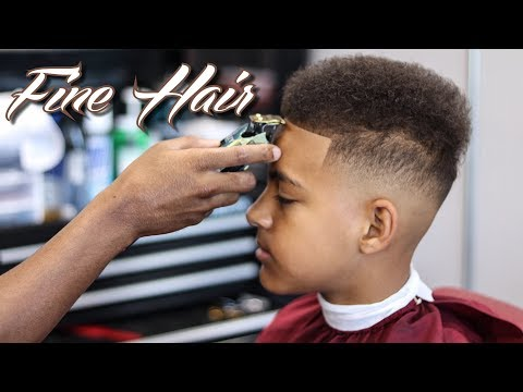 *FULL LENGTH* 15MIN HAIRCUT TUTORIAL:  MID FADE | BEST WAY TO CUT FINE HAIR