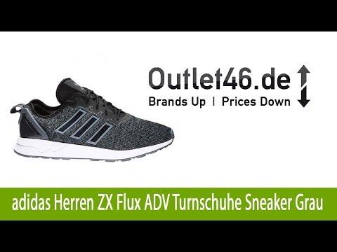 Athletischer adidas Herren ZX Flux ADV Turnschuhe Sneaker Grau günstig kaufen | Outlet46.de