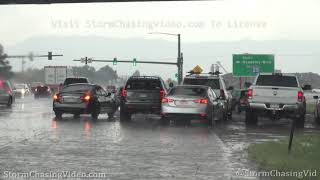 Insane Hail Accumulation and Flash Flooding - Colorado Springs, CO - 8/5/2020