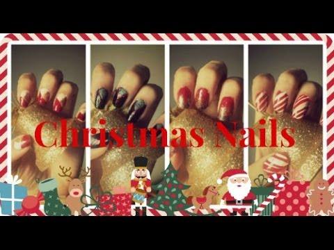 4 εύκολα σχέδια για χριστουγεννιάτικα νύχια