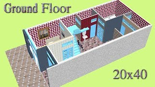 Small Space New Home Design For 20x40 Feet Area, 2BHK Home Plan.